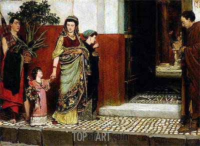 Returning from Market, 1865 | Alma-Tadema| Painting Reproduction