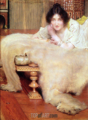 A Listener,  | Alma-Tadema| Painting Reproduction