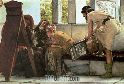 A Roman Studio,  | Alma-Tadema| Painting Reproduction