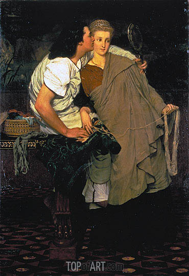Alma-Tadema | The Lovers (Honeymoon),