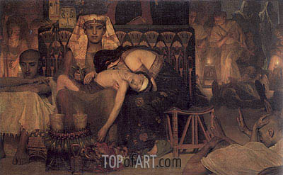 Death of the Pharaoh's Firstborn Son, 1872 | Alma-Tadema | Gemälde Reproduktion
