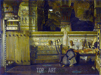 Alma-Tadema | The Egypt Widow in the Time of Diocletian, 1872