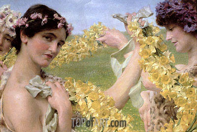 Alma-Tadema | When Flowers Return, 1911