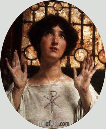 Alma-Tadema | Orante, 1907