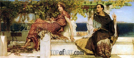Alma-Tadema | The Conversion of Paula by Saint Jerome, 1898