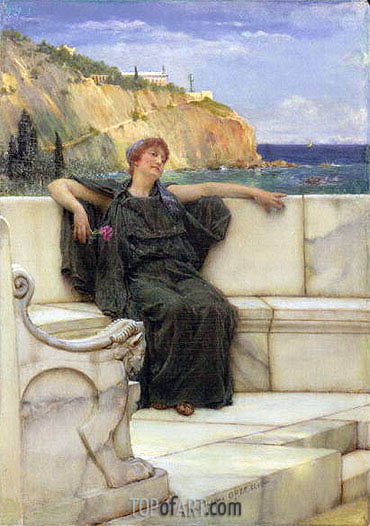 Resting (Daydreaming), 1882 | Alma-Tadema| Painting Reproduction