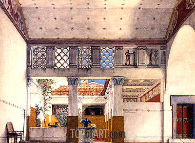 Interior of Caius Martius's House, 1901 | Alma-Tadema| Painting Reproduction