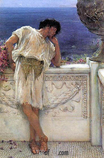 The Poet Gallus Dreaming, 1892 | Alma-Tadema| Gemälde Reproduktion