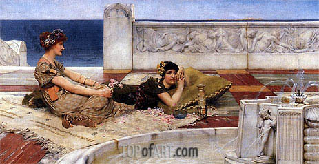 Love's Votaries (Love in Idleness), 1891 | Alma-Tadema| Painting Reproduction