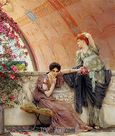 Unconscious Rivals (Detail), 1893 | Alma-Tadema| Painting Reproduction