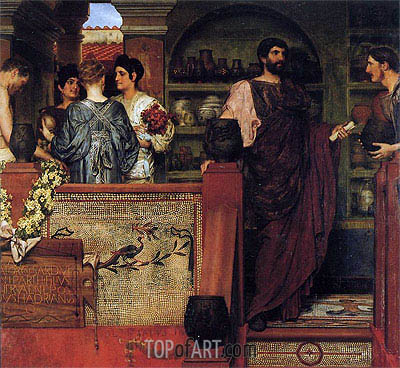Hadrian Visiting a Romano-British Pottery, 1884 | Alma-Tadema | Painting Reproduction