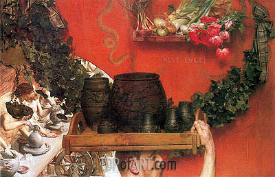 The Roman Potters in Britain, 1884 | Alma-Tadema | Gemälde Reproduktion