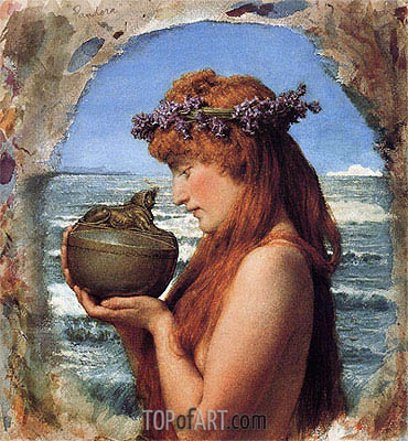 Pandora, 1881 | Alma-Tadema | Painting Reproduction