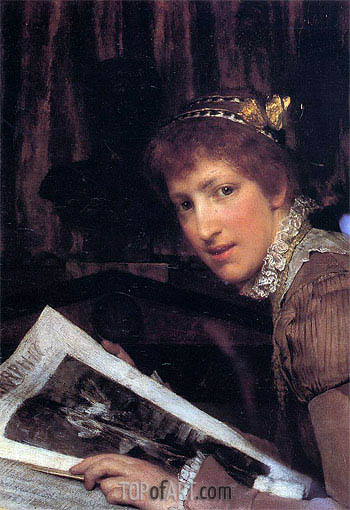 Interrupted, 1880 | Alma-Tadema | Painting Reproduction