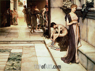 An Apodyterium, 1886 | Alma-Tadema | Painting Reproduction