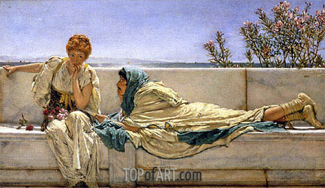 Pleading, 1876 | Alma-Tadema| Painting Reproduction