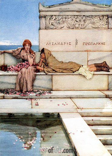 Xanthe and Phaon, 1883 | Alma-Tadema| Painting Reproduction