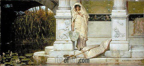 Fishing (Roman Fisher Girl), 1873 | Alma-Tadema| Gemälde Reproduktion