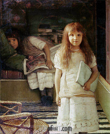 This is our Corner (Portrait of Anna and Laurense Alma-Tadema), 1873 | Alma-Tadema | Painting Reproduction
