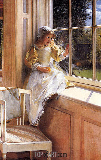 Sunshine (Portrait of Laura Alma-Tadema), undated | Alma-Tadema| Painting Reproduction