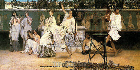 A Private Celebration (Bacchanale), 1871 | Alma-Tadema| Gemälde Reproduktion