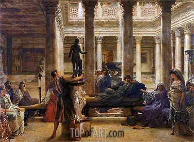 A Roman Art Lover, 1870 | Alma-Tadema| Painting Reproduction