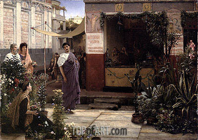 A Roman Flower Market, 1868 | Alma-Tadema| Painting Reproduction