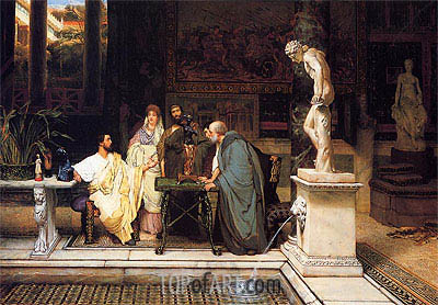 A Roman Art Lover, 1868 | Alma-Tadema| Painting Reproduction