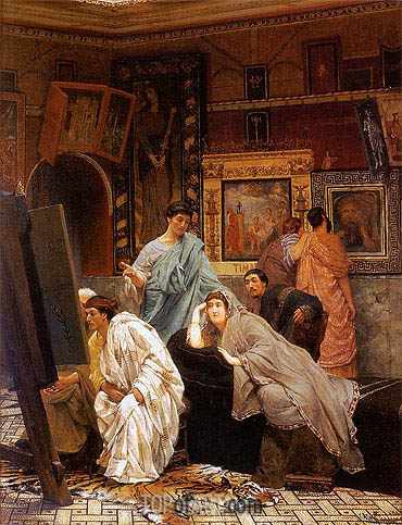Alma-Tadema | A Collector of Pictures at the Time of Augustus, 1867