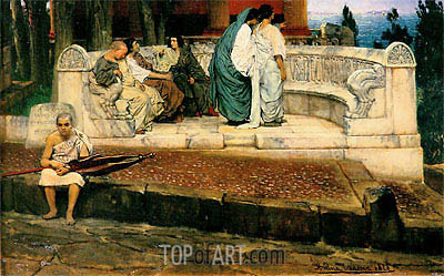 An Exedra, 1869 | Alma-Tadema | Painting Reproduction
