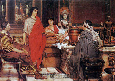 Catullus at Lesbia's, 1865 | Alma-Tadema | Painting Reproduction