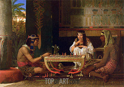 Egyptian Chess Players, 1865 | Alma-Tadema | Painting Reproduction
