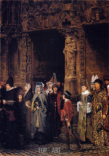 Leaving Church in the Fifteenth Century, 1864 | Alma-Tadema| Painting Reproduction