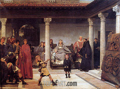 The Education of the Children of Clovis, 1861 | Alma-Tadema | Painting Reproduction