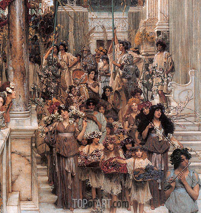 Spring (Detail), 1894 | Alma-Tadema | Painting Reproduction