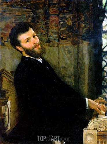 Portrait of the Singer George Henschel, 1879 | Alma-Tadema | Gemälde Reproduktion