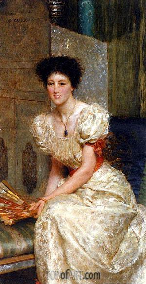 Alma-Tadema | Portrait Of Mrs Charles Wyllie,