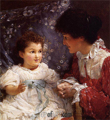 Mrs George Lewis and Her Daughter Elizabeth, 1899 | Alma-Tadema | Painting Reproduction