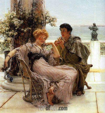 Courtship (The Proposal), 1892 | Alma-Tadema | Painting Reproduction