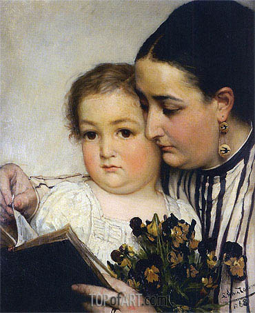 Portrait of Mme Bonnefoy and M. Puttemans, 1868 | Alma-Tadema | Painting Reproduction