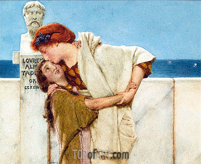 Motherly Love,  | Alma-Tadema | Painting Reproduction