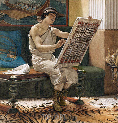 A Roman Artist,  | Alma-Tadema| Painting Reproduction
