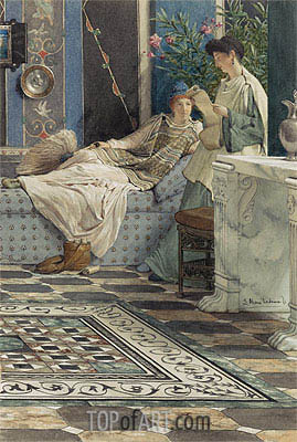 From an Absent One, 1871 | Alma-Tadema | Painting Reproduction