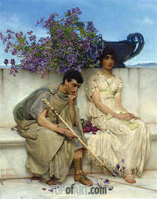 An Eloquent Silence,  | Alma-Tadema | Painting Reproduction