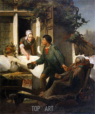 The Blind Beggar, 1856 | Alma-Tadema| Painting Reproduction