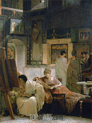A Picture Gallery,  | Alma-Tadema | Painting Reproduction
