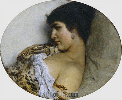 Cleopatra, 1875 | Alma-Tadema | Painting Reproduction