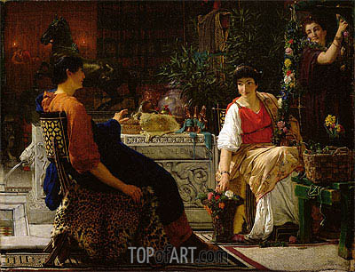 Preparations for the Festivities, 1866 | Alma-Tadema | Gemälde Reproduktion