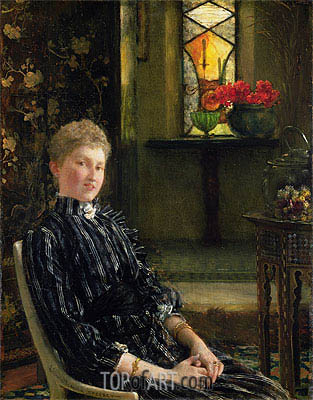 Portrait of Mrs Ralph Sneyd, 1889 | Alma-Tadema| Painting Reproduction