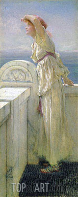 Hopeful, 1909 | Alma-Tadema| Painting Reproduction